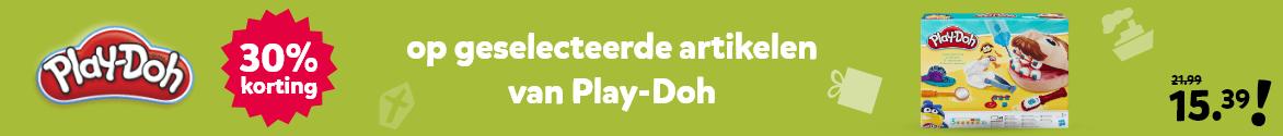 30% korting op geselecteerde artikelen van Play-Doh