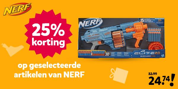 25% korting op geselecteerde artikelen van NERF