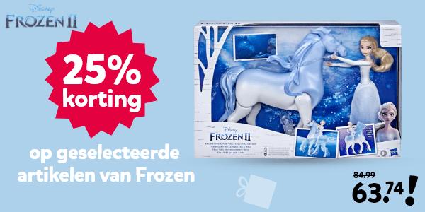 25% korting op geselecteerde artikelen van Frozen