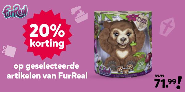 20% korting op geselecteerde artikelen van FurReal