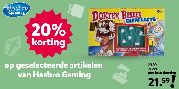 20% korting op geselecteerde artikelen van Hasbro Gaming