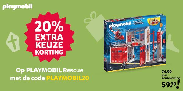 Playmobil Rescue met 20% extra keuzekorting