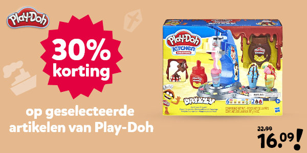 30% korting op geselecteerde Play-Doh