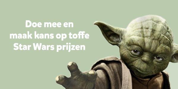 Doe mee met de Star Wars winactie en maak kans op intergalactische prijzen