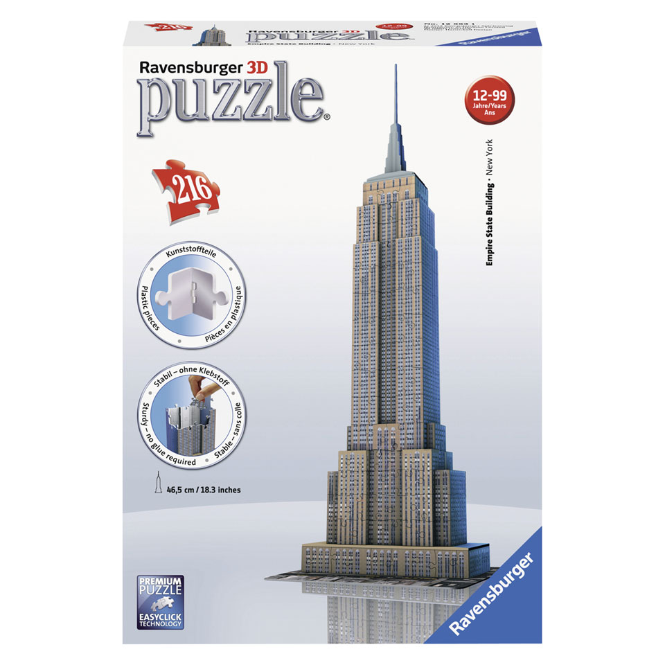 Ravensburger 3D-puzzel Empire State Building - 216 stukjes