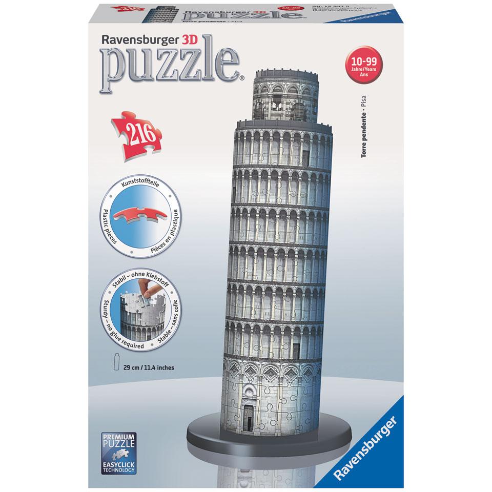 Ravensburger 3D-puzzel Toren van Pisa - 216 stukjes