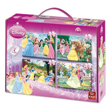 Disney Princess 4-in-1 puzzelset - 12 + 16 + 20 + 24 stukjes