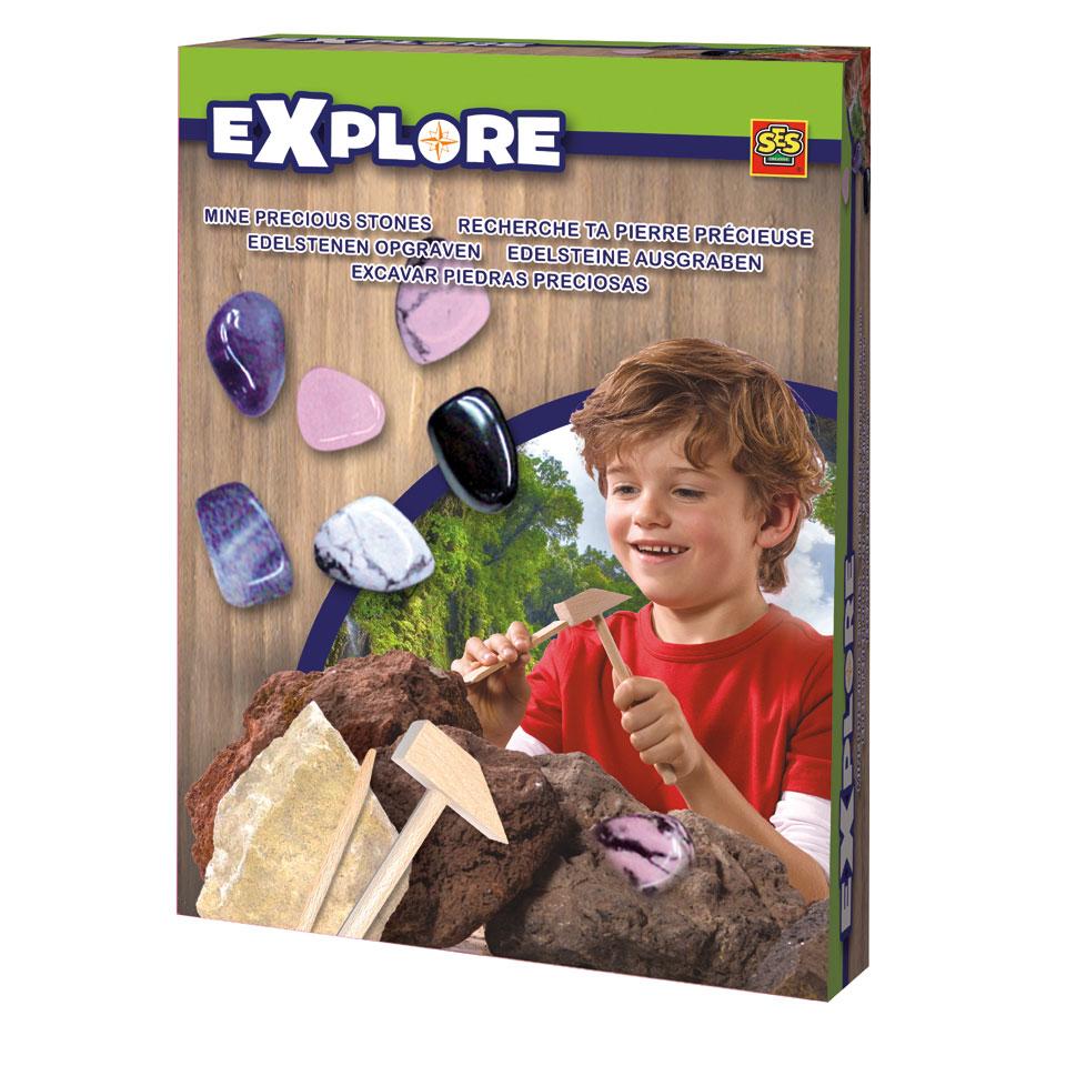 SES Explore set edelstenen opgraven