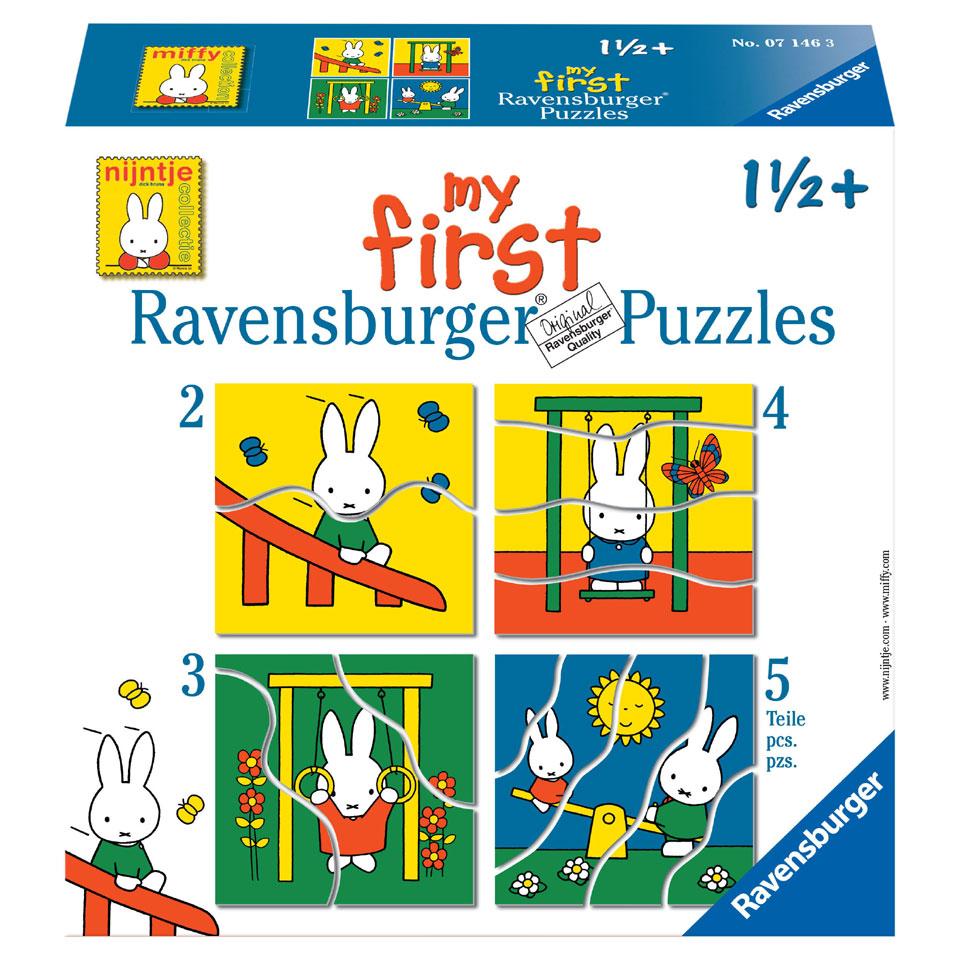 Ravensburger Mijn eerste puzzels Nijntje puzzelset - 2 + 3 + 4 + 5 stukjes