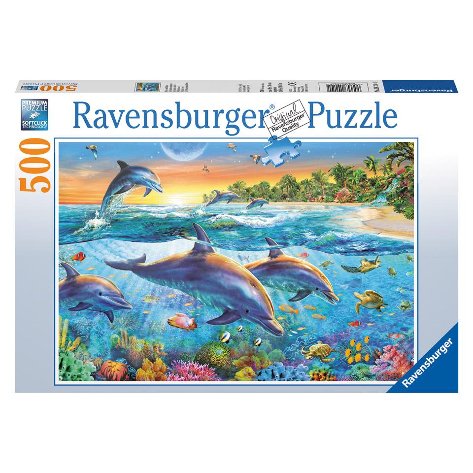 Ravensburger puzzel Dolfijnenbaai - 500 stukjes