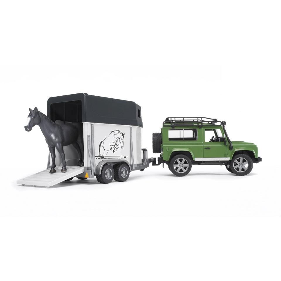 Land Rover Defender + paardtrailer