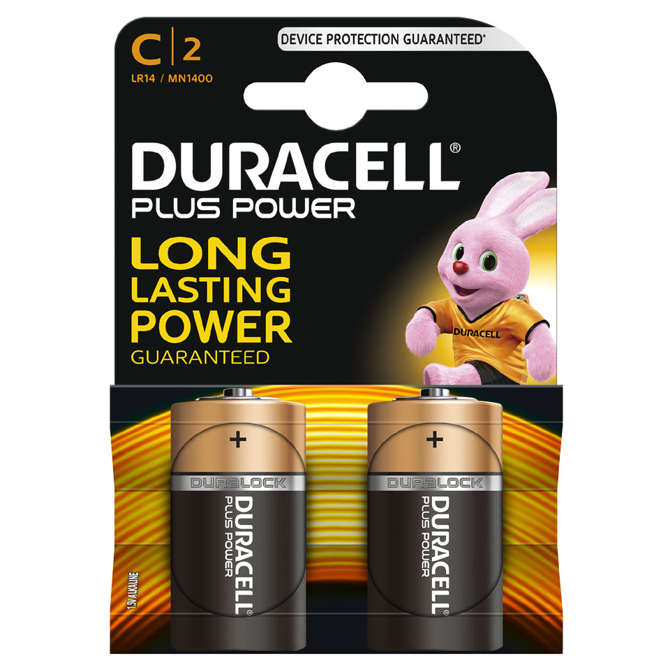 Duracell Plus Power C alkaline batterijen - 2 stuks
