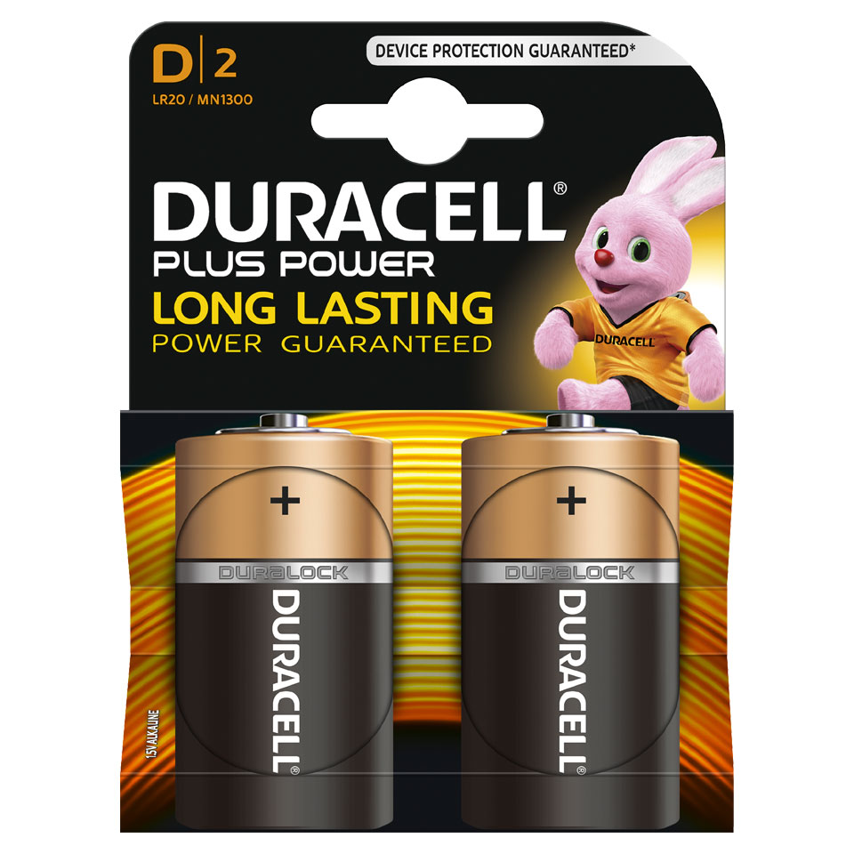 Duracell Plus Power D alkaline batterijen - 2 stuks