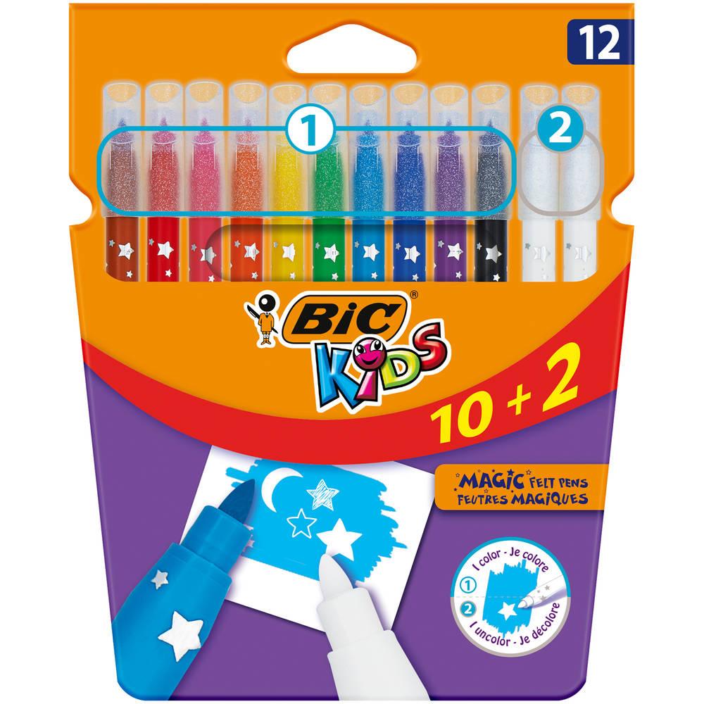 BIC Kids viltstiften uitwisbaar set 12-delig