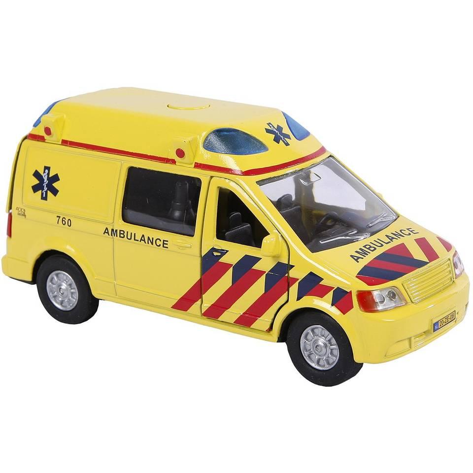 Kids Globe Traffic ambulance met licht en geluid