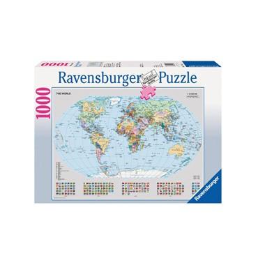 Ravensburger puzzel Staatkundige wereldkaart - 1000 stukjes
