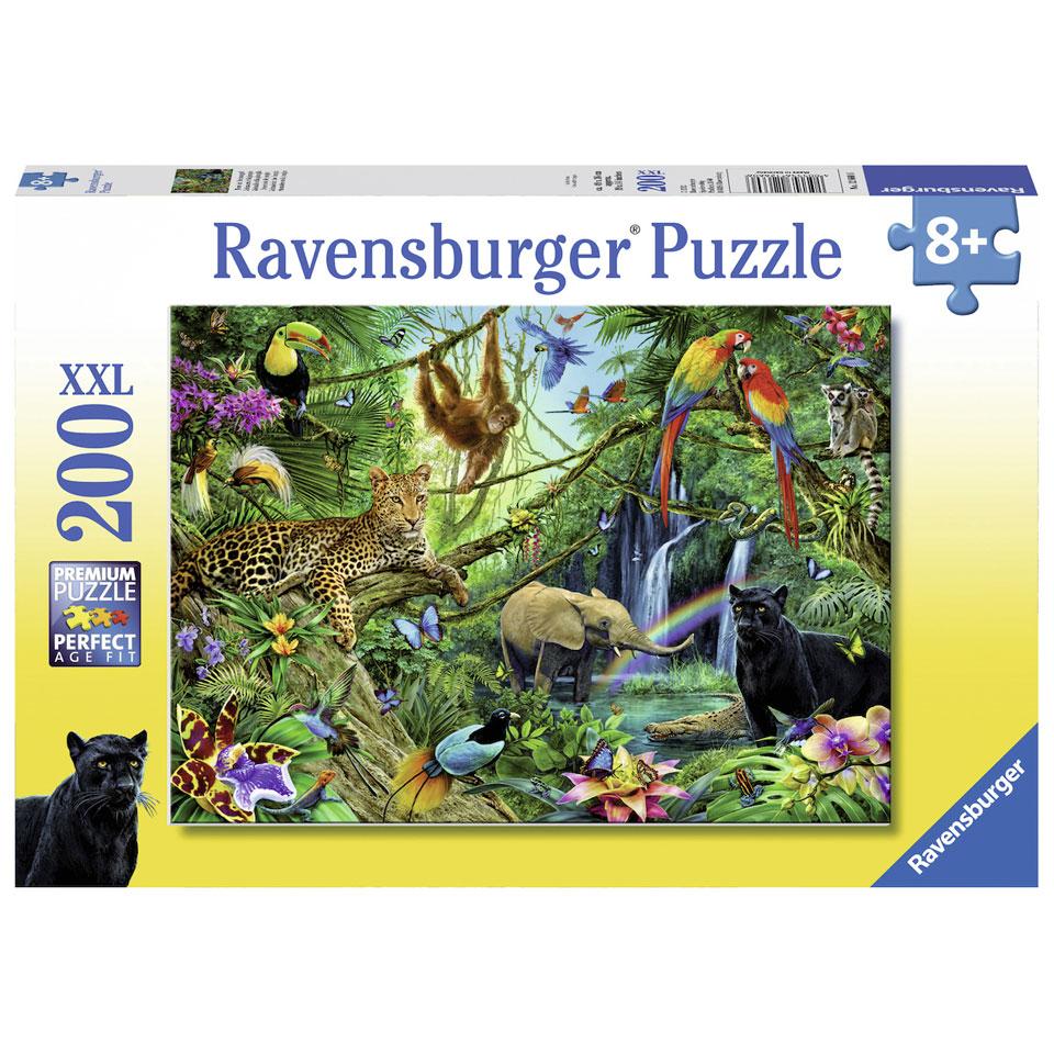 Ravensburger puzzel Dieren in de jungle - 200 stukjes