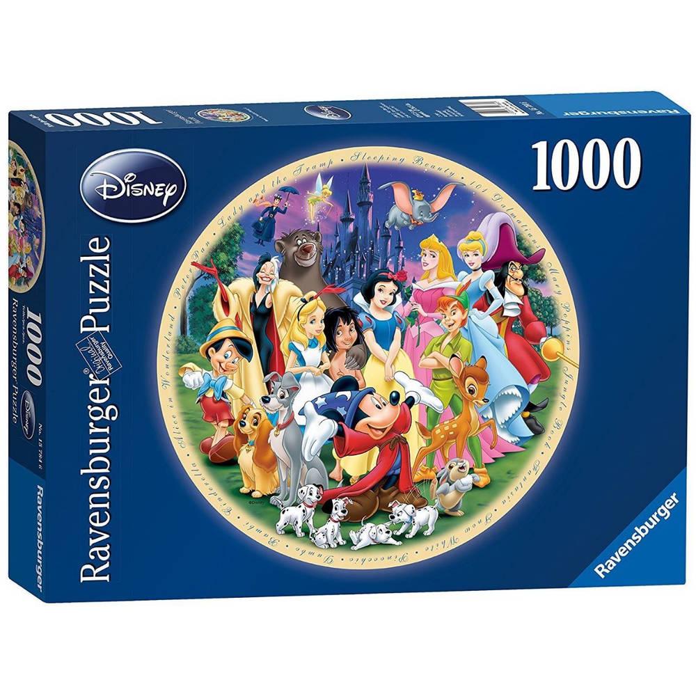 Ravensburger ronde puzzel Disney World - 1000 stukjes