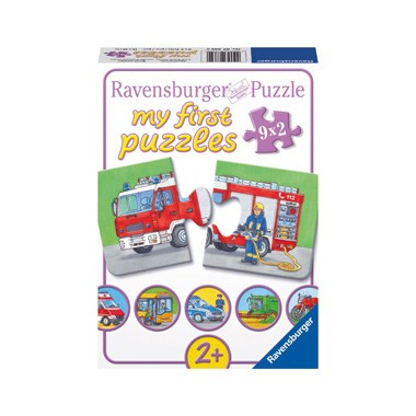 Ravensburger puzzelset Speciale voertuigen - 9 x 2 stukjes