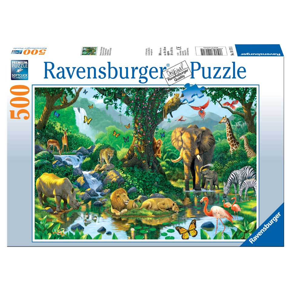 Ravensburger puzzel Jungle Harmony - 500 stukjes
