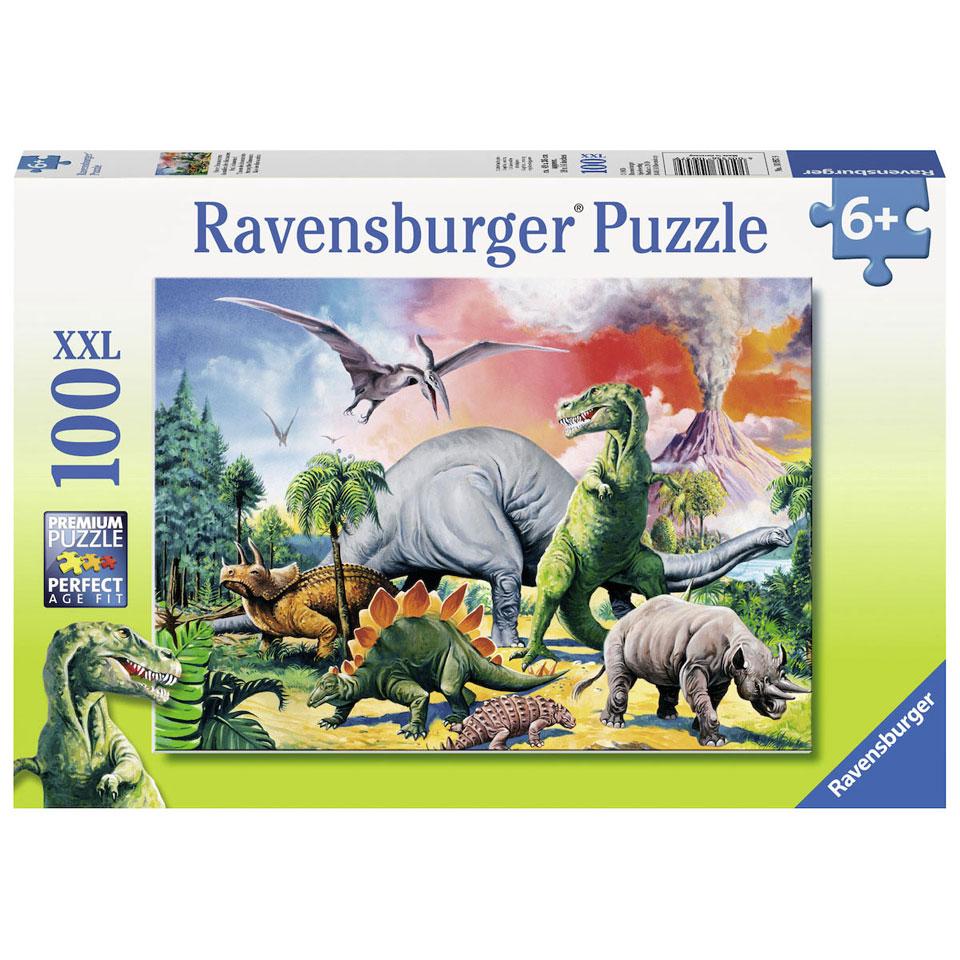 Ravensburger puzzel Tussen de dino's - 100 stukjes