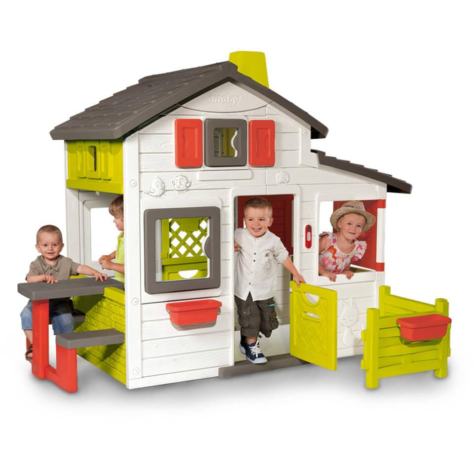 Smoby Friends speelhuis met buitentafel
