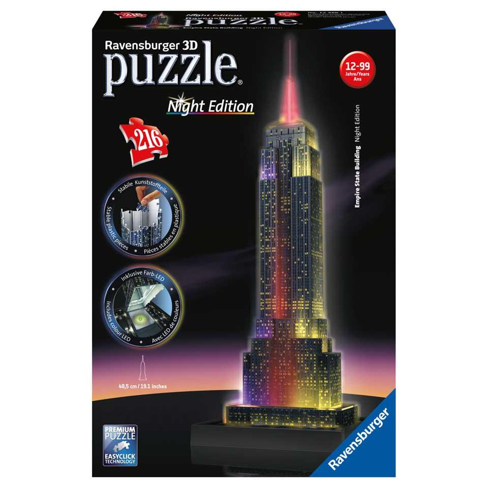 Ravensburger 3D-puzzel Empire State Building met licht - 216 stukjes