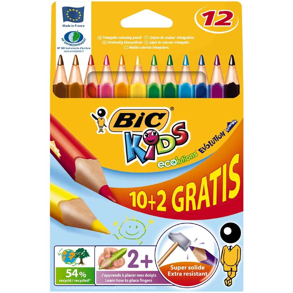 BIC Kids driehoekige kleurpotloden - 12 stuks
