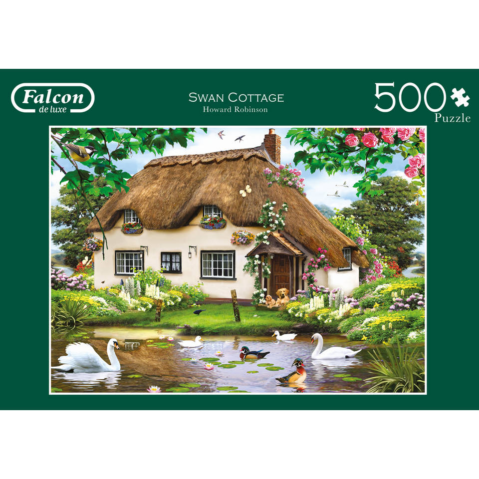 Jumbo Falcon Swan Cotage puzzel - 500 stukjes