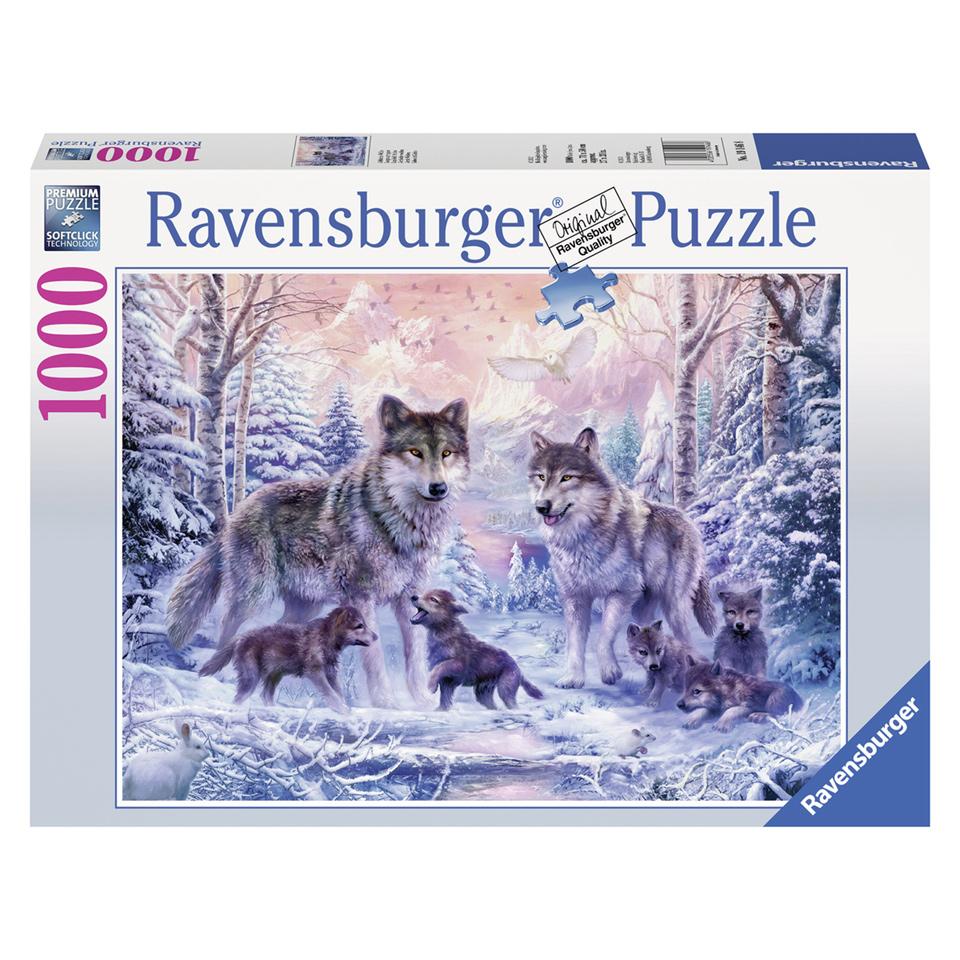 Ravensburger puzzel Arctische wolven - 1000 stukjes