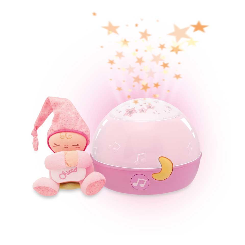 Chicco welterusten roze ster projector met muziek