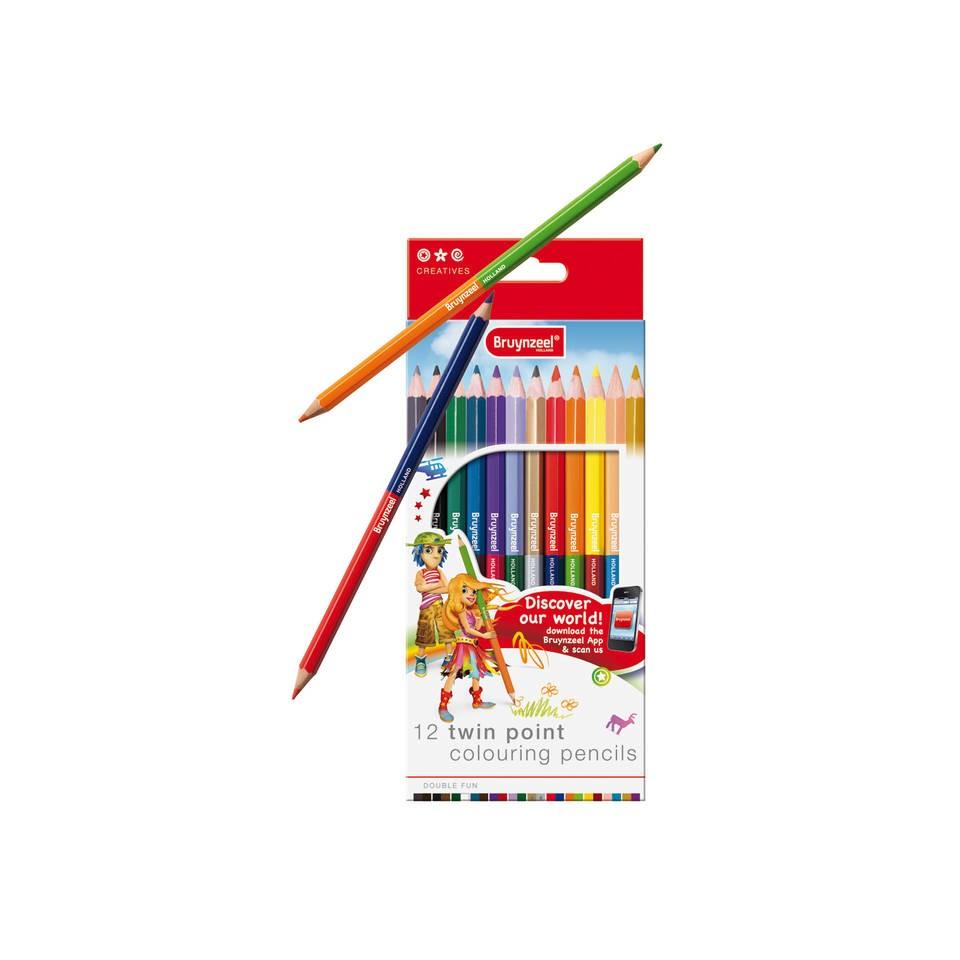Bruynzeel Twinpoint kleurpotloden - 12 stuks