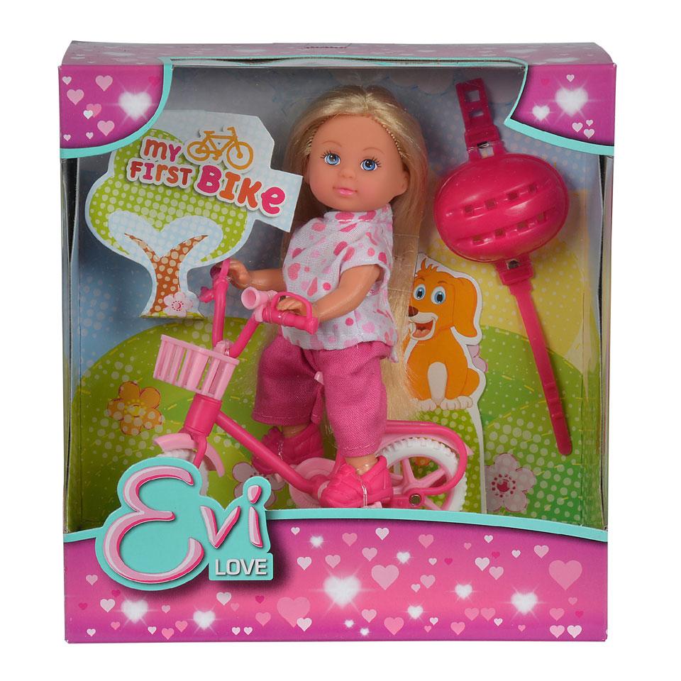 Evi en haar eerste fiets