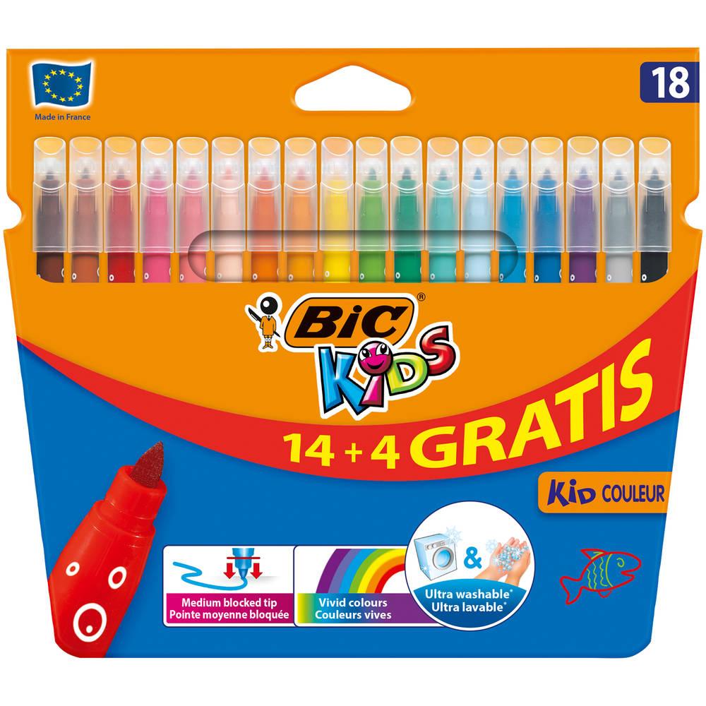 BIC Kids kleurstiften in etui 18-delig