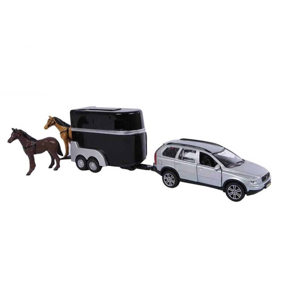 Kids Globe Traffic Volvo XC90 auto met paardentrailer