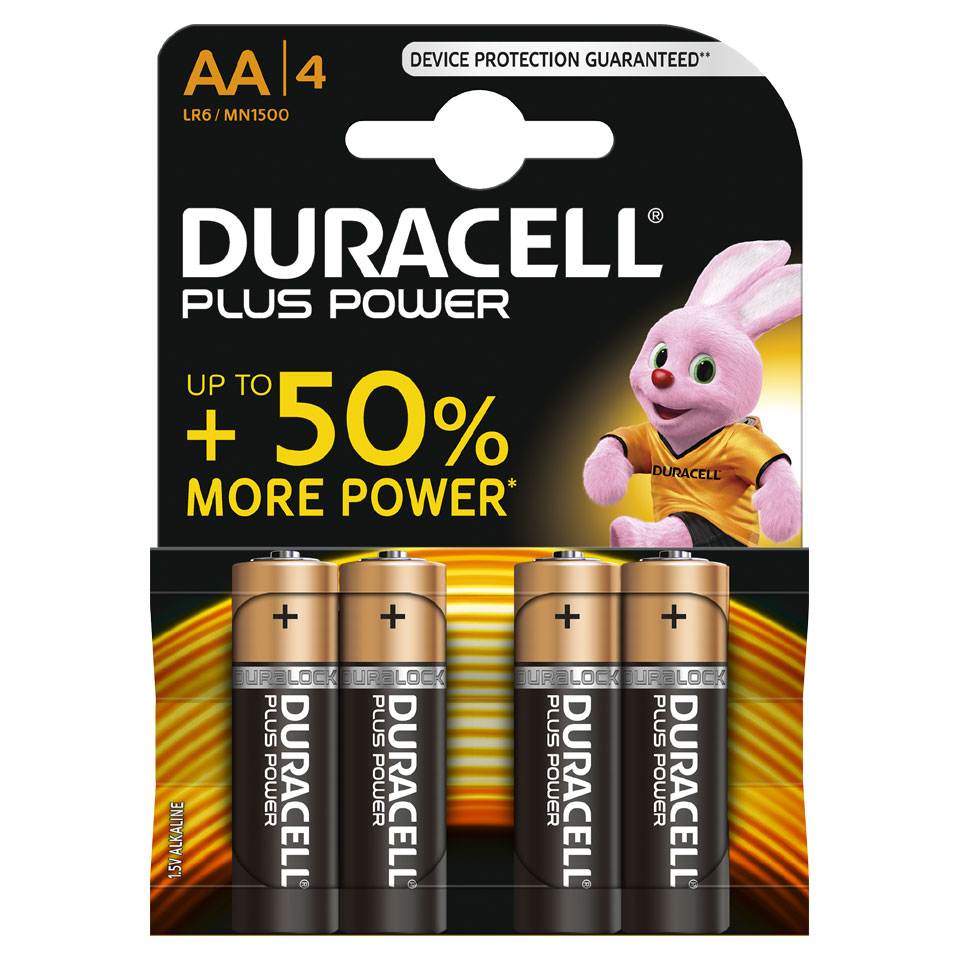 Duracell Plus Power AA alkaline batterijen - 4 stuks
