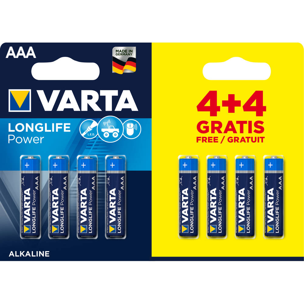 Varta High Energy AAA 4+4 Gratis