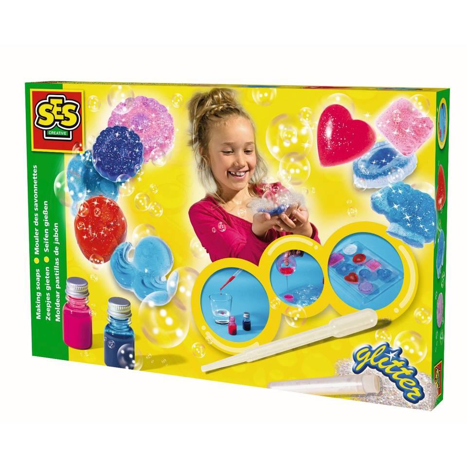 SES Creative glitter zeepjes gieten