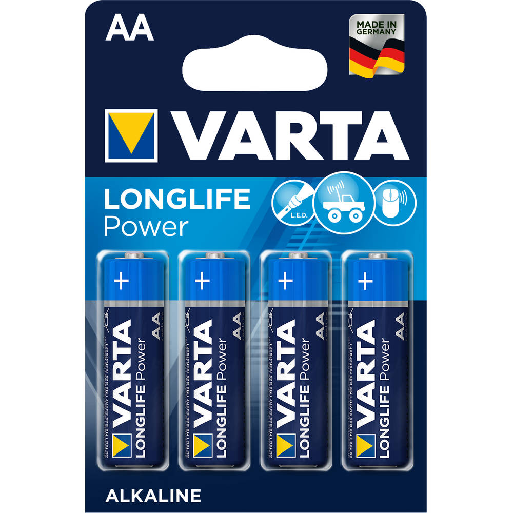 Varta AA-batterijen High Energy LR06 4-delig
