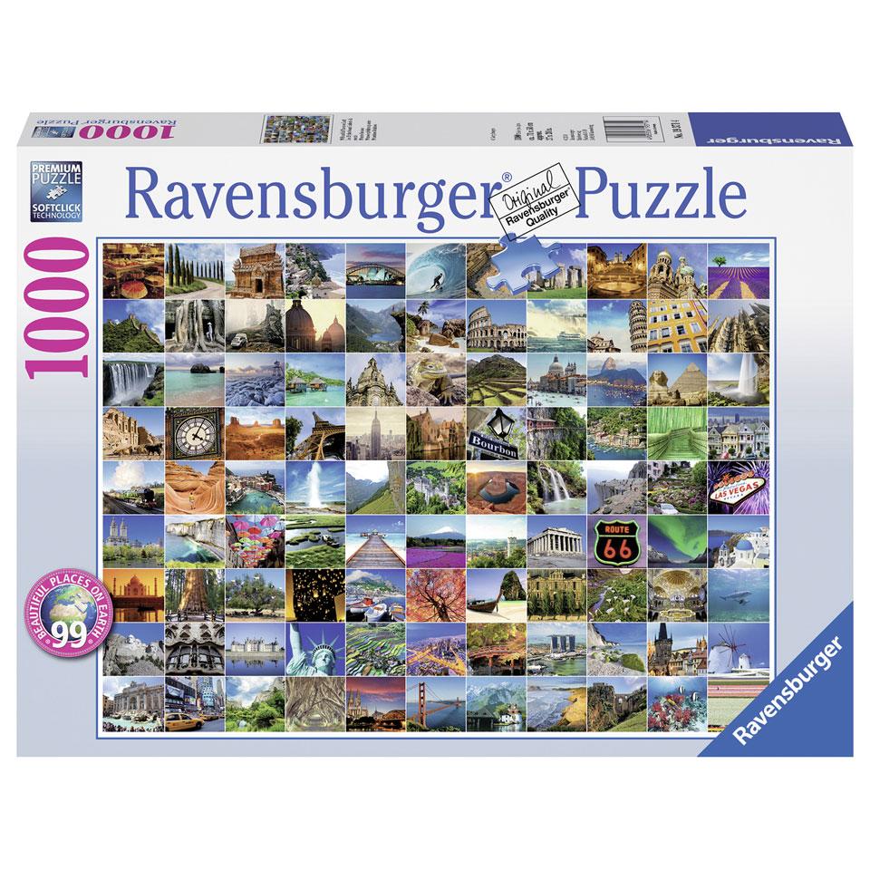 Ravensburger puzzel 99 Mooie plekken op Aarde - 1000 stukjes