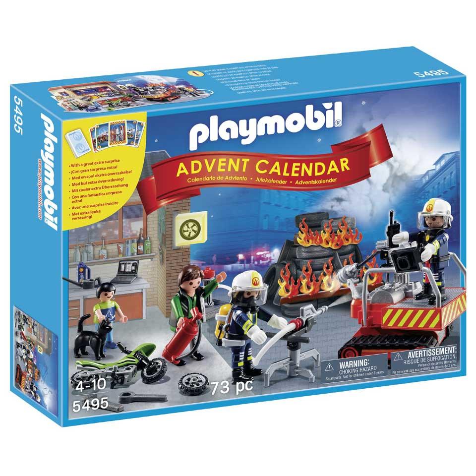 PLAYMOBIL Adventskalender brandweer met kaartspel 5495