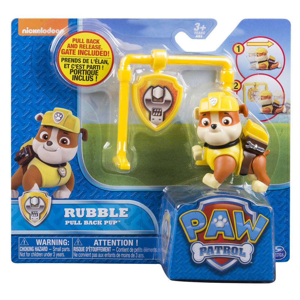 PAW Patrol Pull Back Pups Rubble