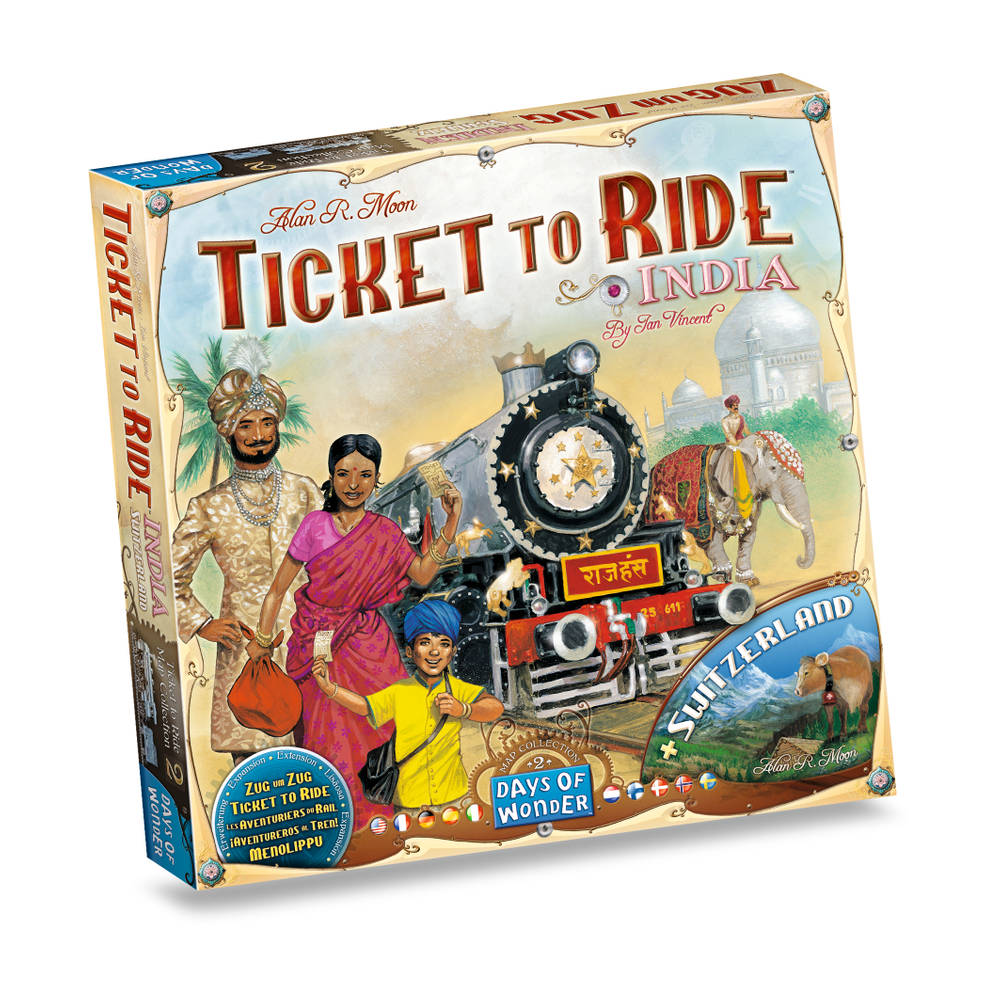 Ticket to Ride India/Zwitserland - Uitbreiding