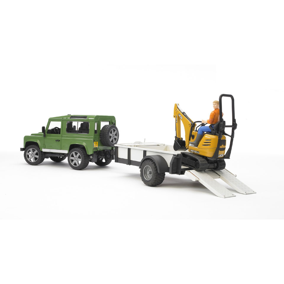 Bruder Land Rover Defender met trailer