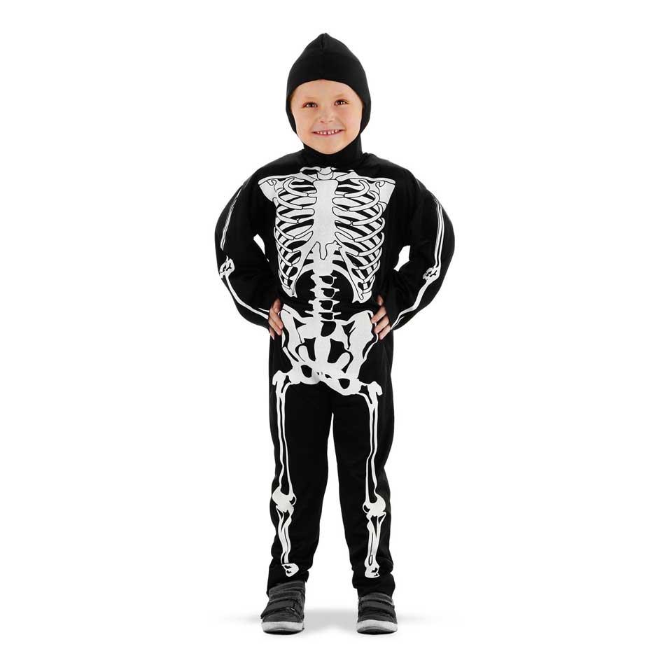 Skelet verkleedpak - maat 98/116