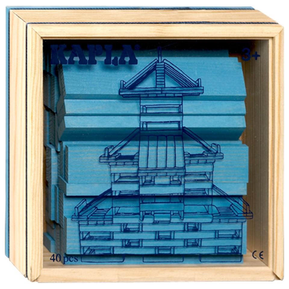 Kapla kist 40-delig - lichtblauw
