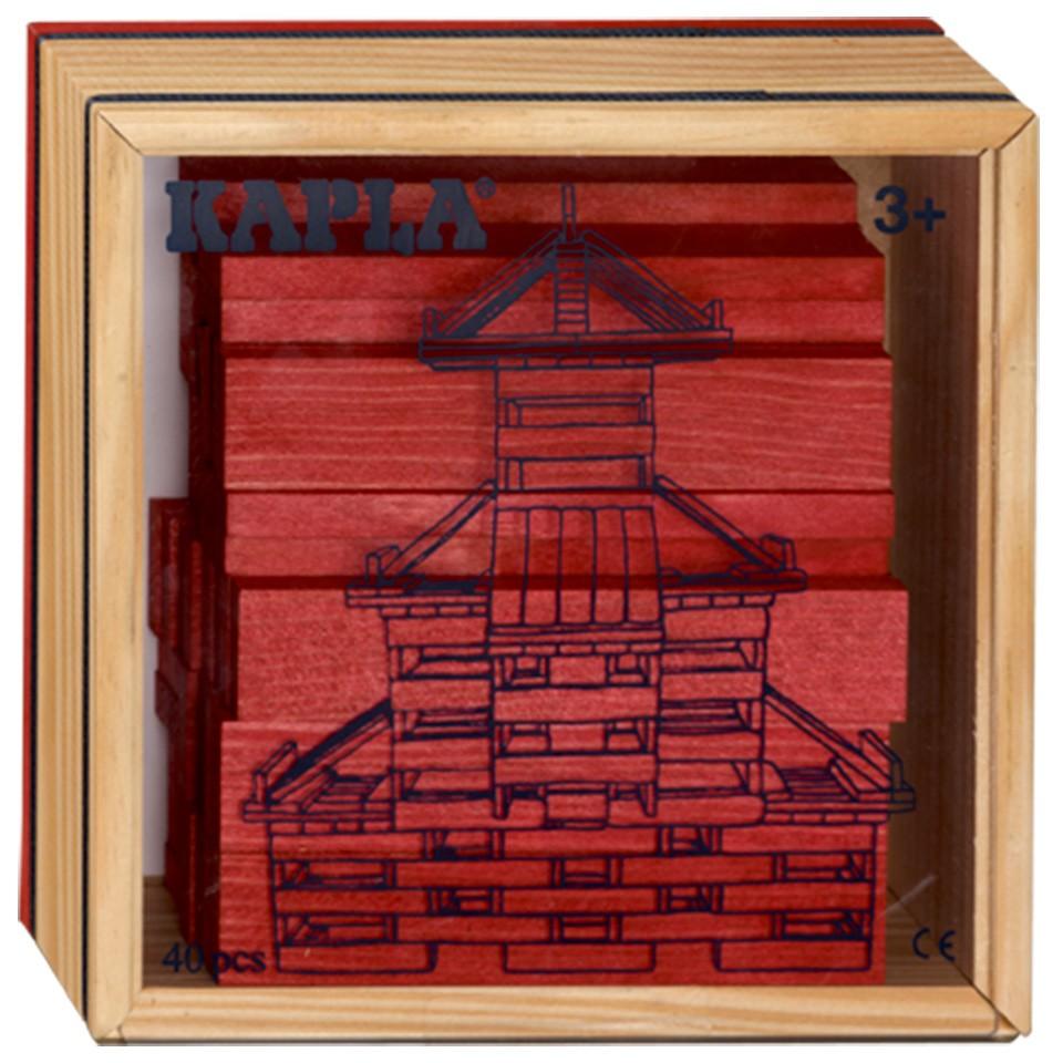 Kapla kist 40-delig - rood