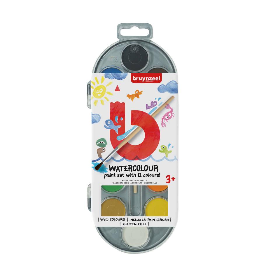 Bruynzeel waterverf set van 12 kleuren