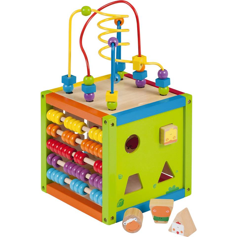 Joueco houten activiteitenkubus