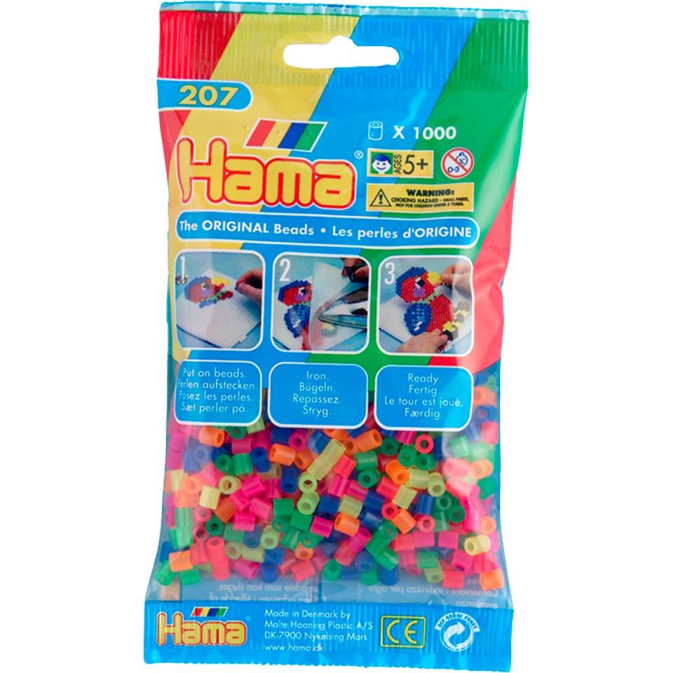 Hama Strijkkralen fluor - 1000-delig